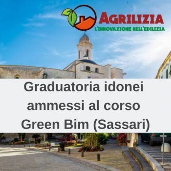 Graduatoria degli idonei ammessi al corso Green Bim (Sassari)
