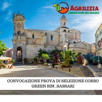 Convocazione per la PROVA di SELEZIONE corso Green Bim SASSARI – Progetto AGRILIZIA