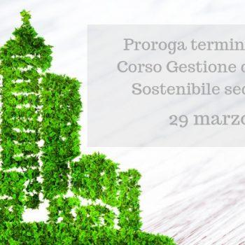 Proroga delle iscrizioni per il corso Gestione del Cantiere Sostenibile sede Sassari
