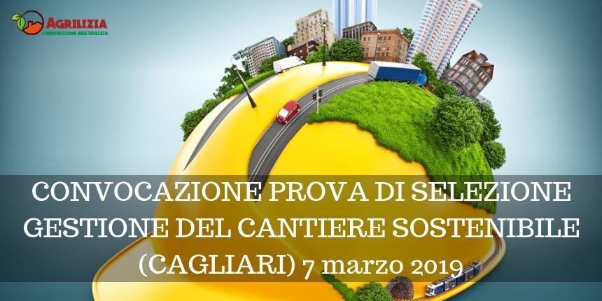 Convocazione prova di selezione gestione del cantiere sostenibile (Cagliari)